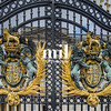 Close up of the Buckingham Palace Gates in London