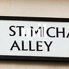 St Michael's Alley Street Sign in London