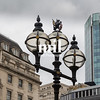The old City of London Street Lights near the Bank of England