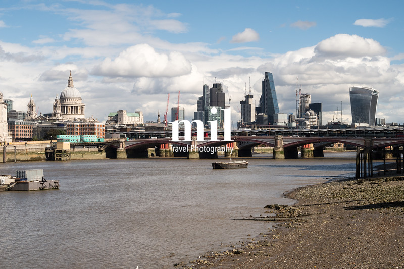 London City Skyline near Blackfriars Bridge