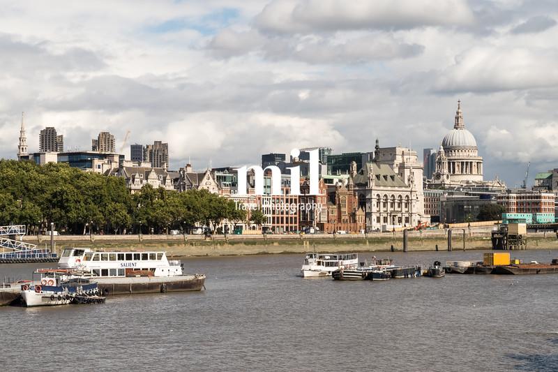 London City Skyline near Blackfriars Bridge Bridge