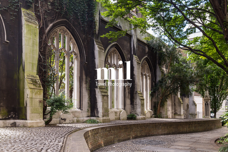 Old Church Ruins in the Heart of London City