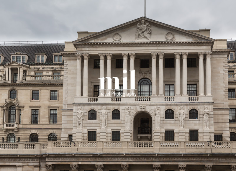 Business and Financial District of London in the UK - Bank of England