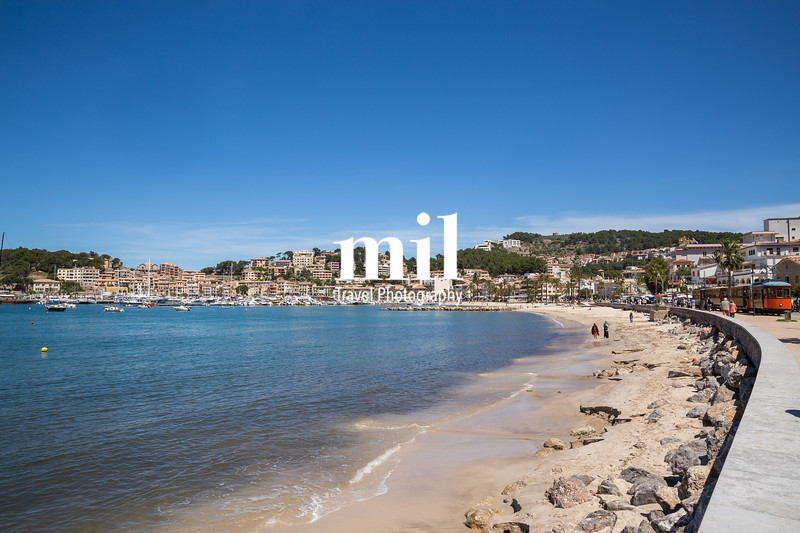 A view in Port Soller in Majorca