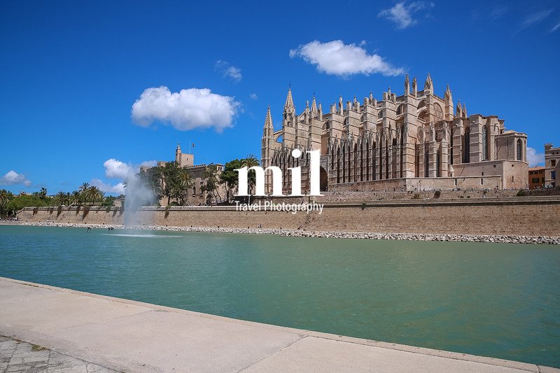 The Cathedral in Palma Majorca in Spain