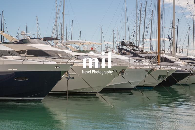 Boats in the marina in Palma Majorca