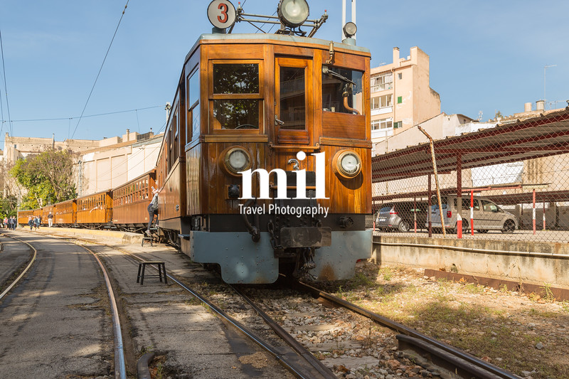 The old Soller railway in Palma Majorca