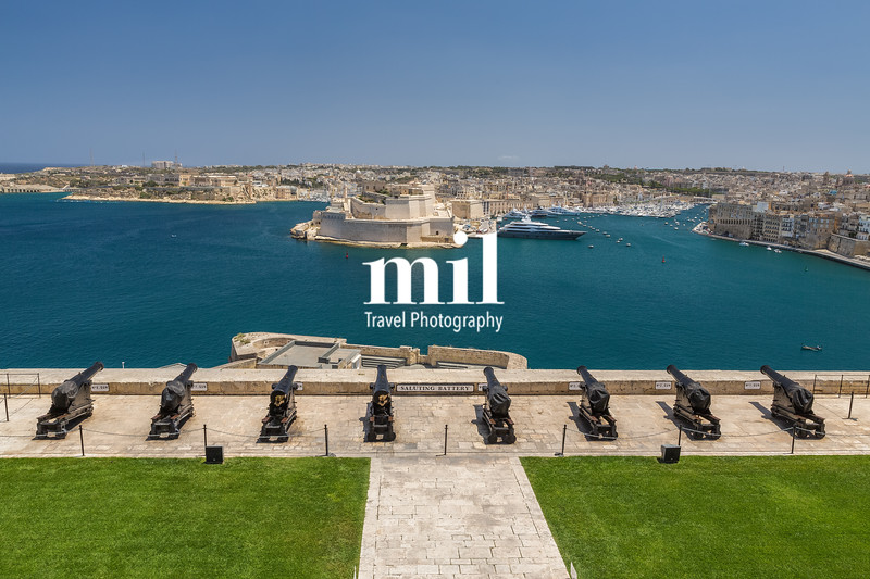 Valetta Harbour in Malta from the Fort