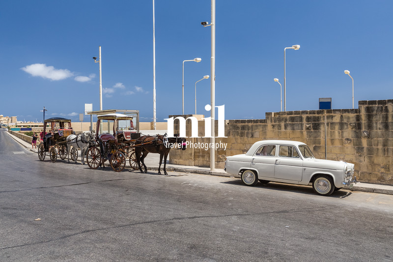 Traditional Maltese transport in Valetta