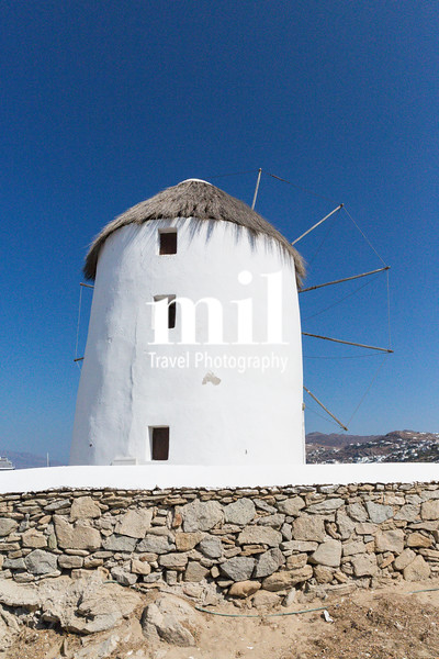 Windmill in Mykonos in Greece