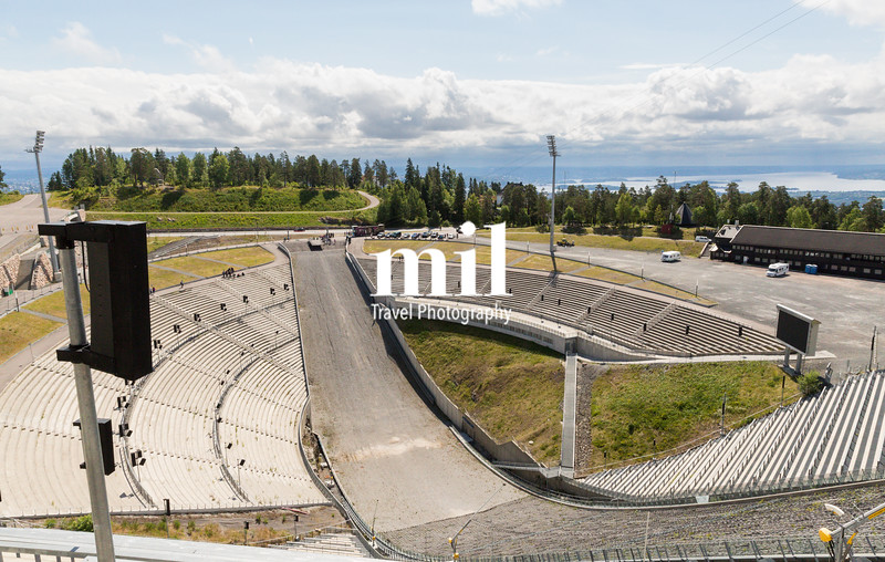 View of Oslo from the Holmenkollen Ski Jump