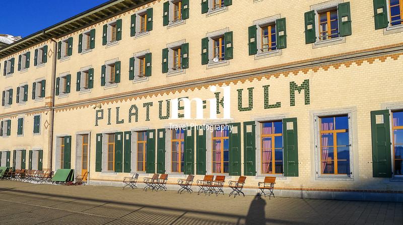 Pilatus Kulm above Lucerne in Switzerland