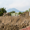 Ruins of Pompeii with Mount Vesuvius in the background