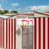 Changing Booths at the beach in Santa Margherita Ligure in Italy
