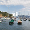 The view from Portofino into the harbour