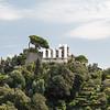 Castello Brown is the Castle above Portofino