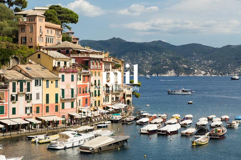 The pretty town of Portofino in Italy