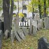 Jewish Cemetery in Prague in Czech Republic