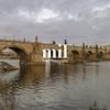 Charles Bridge over the Vltava river in Prague