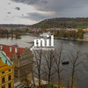 View over the Vltava River in Prague
