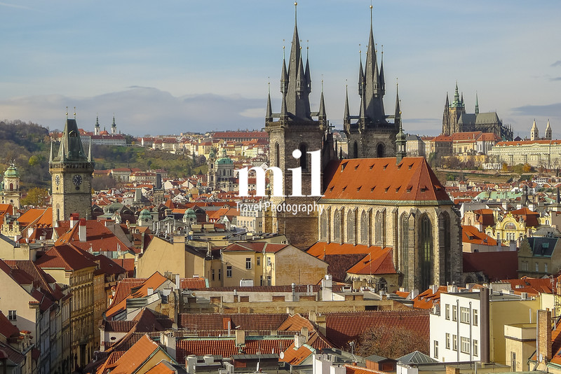 The skyline and cityscape of Prague