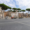 Street scene in Rome near the Forum and Tomb of the Unknown Soldier