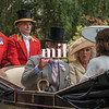 HRH Prince Charles with Camilla and Princess Eugenie en route to Royal Ascot