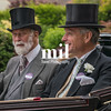 Prince Michael of Kent and Lord de Mauley en route to Royal Ascot