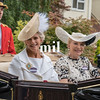 Princess Michael of Kent and Lady de Mauley en route to Royal Ascot