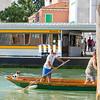 Dog on a Gondola in Venice