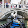 The canals from a Gondola in Venice