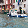 A Police boat on the Grand Canal in Venice