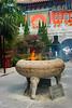Incense Pot, Po Lin Monastery, Lantau Island, Hong Kong.  October 2008