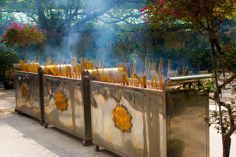Incense sticks, Po Lin Monastery, Lantau Island, Hong Kong.  October 2008