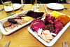 Þorramatur is a traditional buffet served at midwinter festivals called Þorrablót.