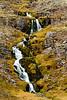 Waterfall along Ketildalsvegur (619) near Bíldudalur, Westfjords, Iceland. October 2013