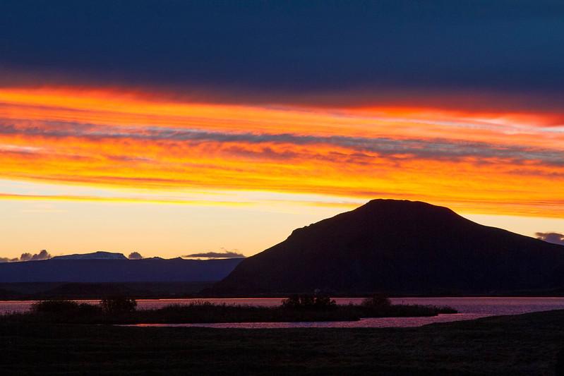 Sunset, Iceland.  October 2015