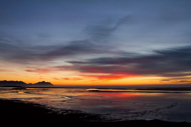 Sunrise, south Iceland.  October 2015