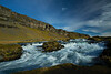 Waterfall, Route 1, south Iceland.  October 2015