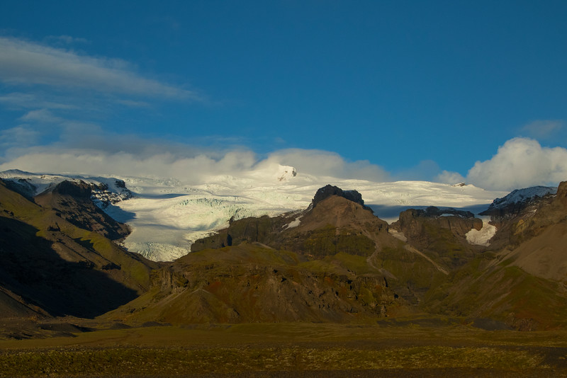 Glacier, Route 1, south Iceland.  October 2015