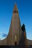 The church of Hallgrimur, Reykjavik, Iceland. July 2014