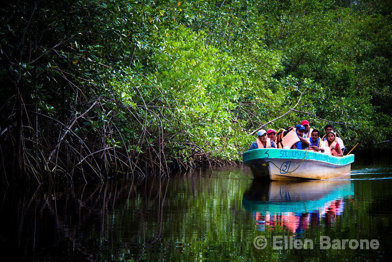 Accessible only by boat via a labyrinth of mangrove estuaries teaming with crocodiles, ospreys and herons at Madresal, an community-built eco-friendly beach camp situated on a picture-perfect swath of pristine Pacific Coast of Chiapas, Mexico.