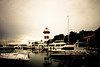 Harbour Town lighthouse and marina, Sea Pines, Hilton Head Island, South Carolina, USA, North America.