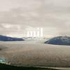 Glacier from the air near Juneau Alaska