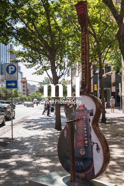 Guitar art in Austin in Texas