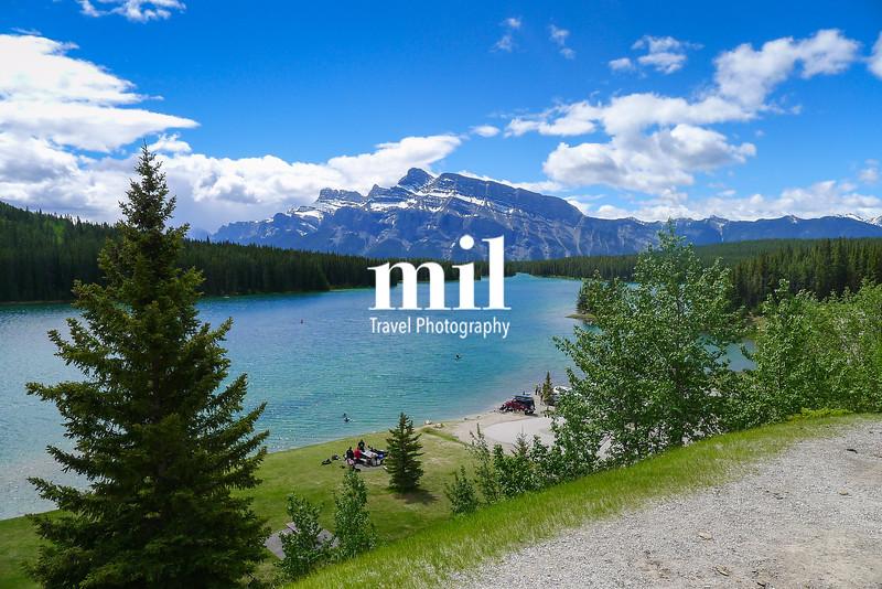 Minnewanka Loop and Lake Johnson near Banff