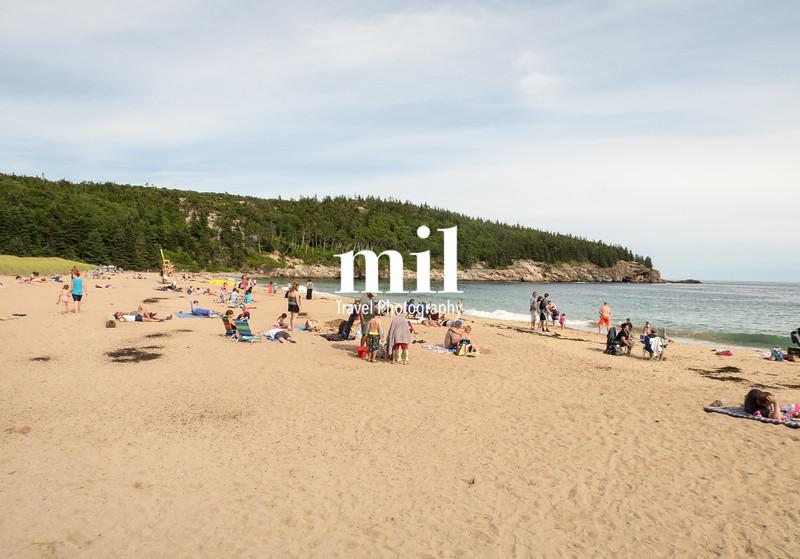 Sand Beach in Acadia National Park Maine