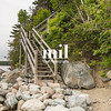 Rocks and stairs at Pretty Marsh on Mount Desert in Maine