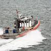 Boston pilot boat from the harbor in Boston