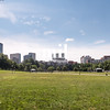 Boston Common and city skyline for the start of the Freedom Trail